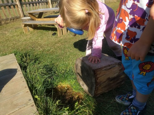 Fluppet's Montessori - Exploring in the garden